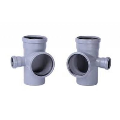 Крестовина ПП 2-х плоскостная для труб внутренней канализации